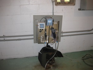 Continuous chlorine monitor used for the Storage Tank Assessment Special Study