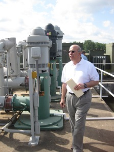 Maher Jaafari (MO DNR) tours the Texarkana Water Utilities' Millwood Treatment Plant during the workshop.