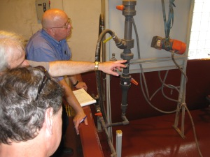 Denny Krieder (Oakmont Water Authority) provides a tour of Oakmont Water Authority's Hulton Purification Plant to Bill Davis (PAI) and Larry DeMers (PAI).