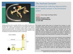 Innovation Showcase Hydrant Sampler Poster