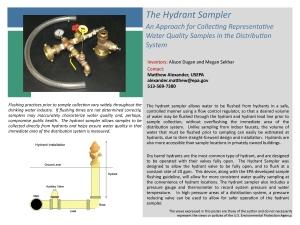 Innovation Showcase Hydrant Sampler Poster